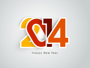 Happy-New-Year-2014-Compact-Font-Vector